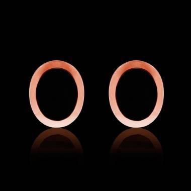 Boutons de manchettes chevalière onyx en or rose vermeil 13,4g Ovalis