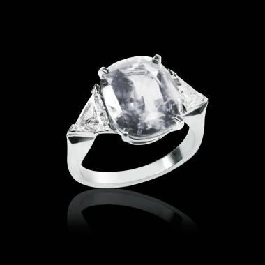 Bague de fiançailles diamant pavage diamant or blanc Stéphanie