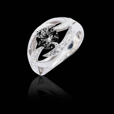 Bague diamant noir Ophélie