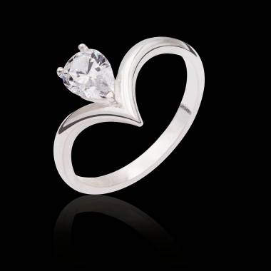 Bague de fiançailles diamant or blanc Flavie Solo