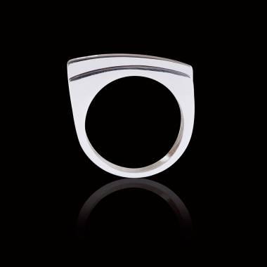 Bijoux Homme pavage diamant 0,5 carats or blanc Sensus