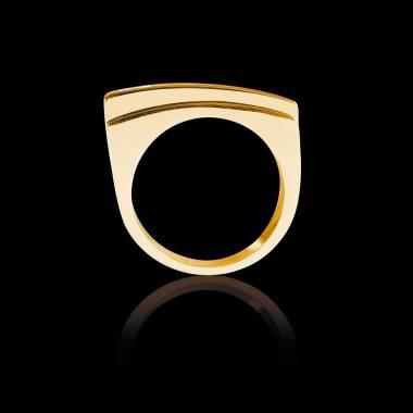 Bijoux Homme pavage diamant 0,6 carats or jaune Sensus