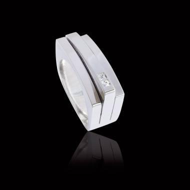 Bague Homme pavage diamant 0,7 carats platine Sensus