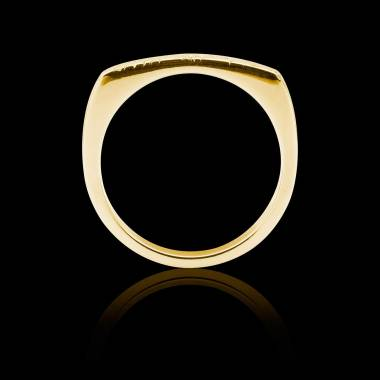 Bague Homme pavage diamant 0,6 carats or jaune Complications