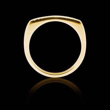 Bague Homme pavage diamant noir 0,6 carats or jaune Complications