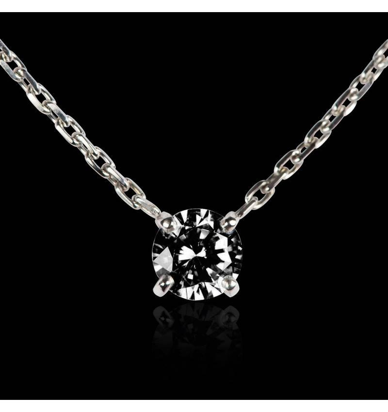 Pendentif diamant noir or blanc Around Me