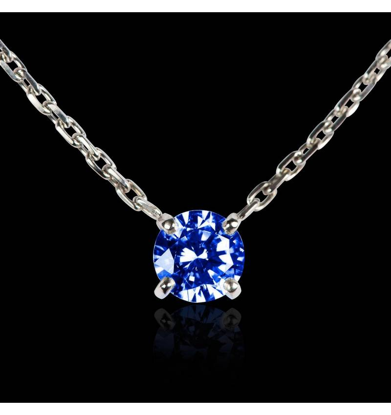 Pendentif saphir bleu or blanc Around Me