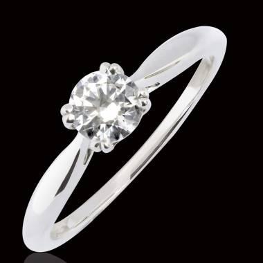 Bague de fiançailles diamant or blanc Laureen Solo