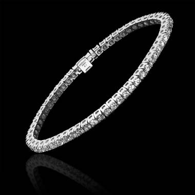Bracelet diamant or blanc Tennis