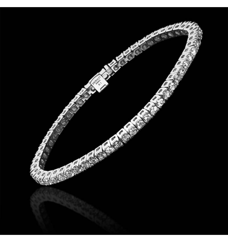 Bracelet diamant or blanc Tennis