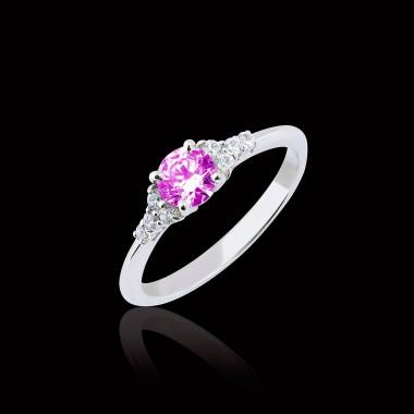 Bague saphir rose Virginie