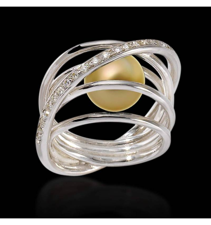 Bague perle gold or Cache Cache