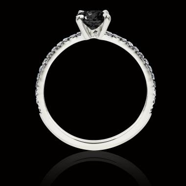Bague diamant noir Manon