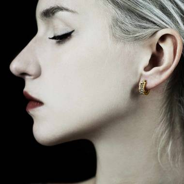 Boucles d'oreilles diamant Fuseaux