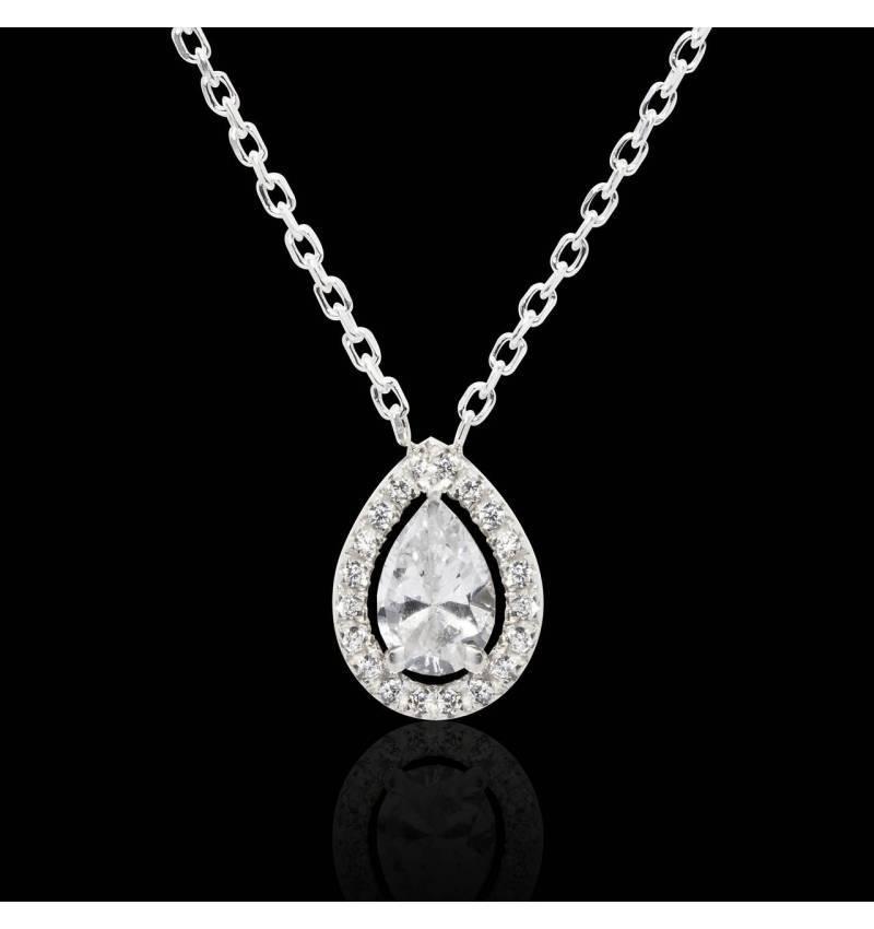 Pendentif diamant poire Soleil