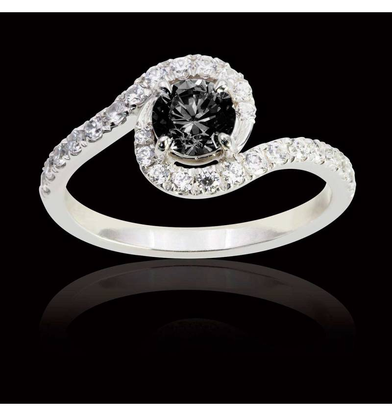 Beautiful Bague diamant noir Lilou - Maison Jaubalet TP89