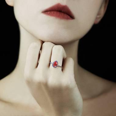 Bague rubis Sandra