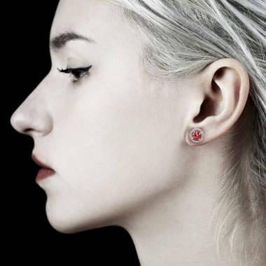 Boucles d'oreilles rubis Soleil