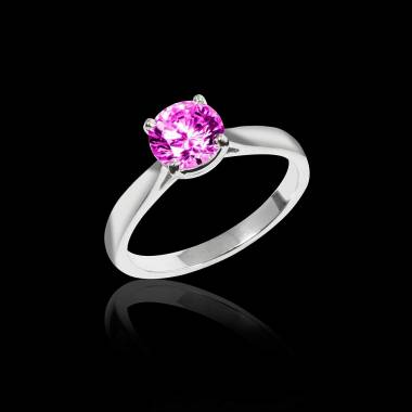 Bague saphir rose Angela solo