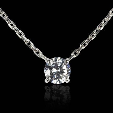 Pendentif diamant or blanc Around Me