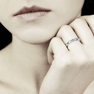 Alliance de mariage or blanc Charlène