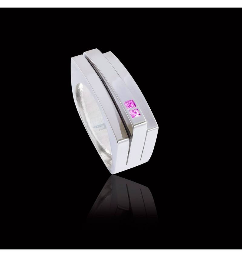 Bague saphir rose Sensus