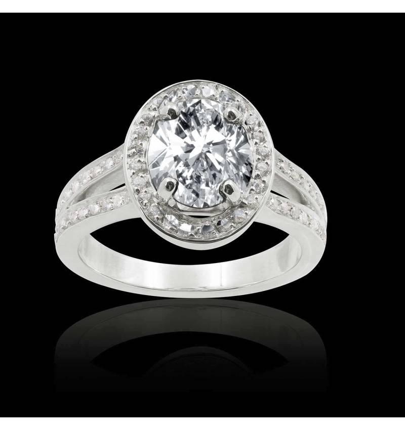 Bague de fiançailles diamant ovale Sarah