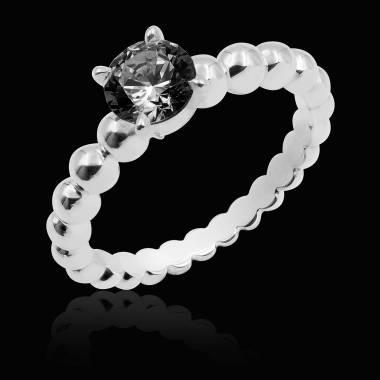 Bague diamant noir perle
