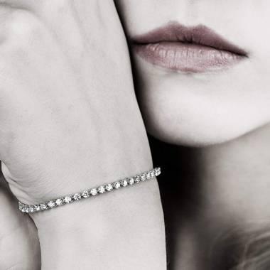 Bracelet diamant or blanc Rivière