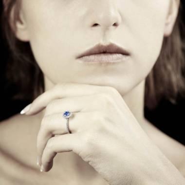 Bague saphir bleu Isaure