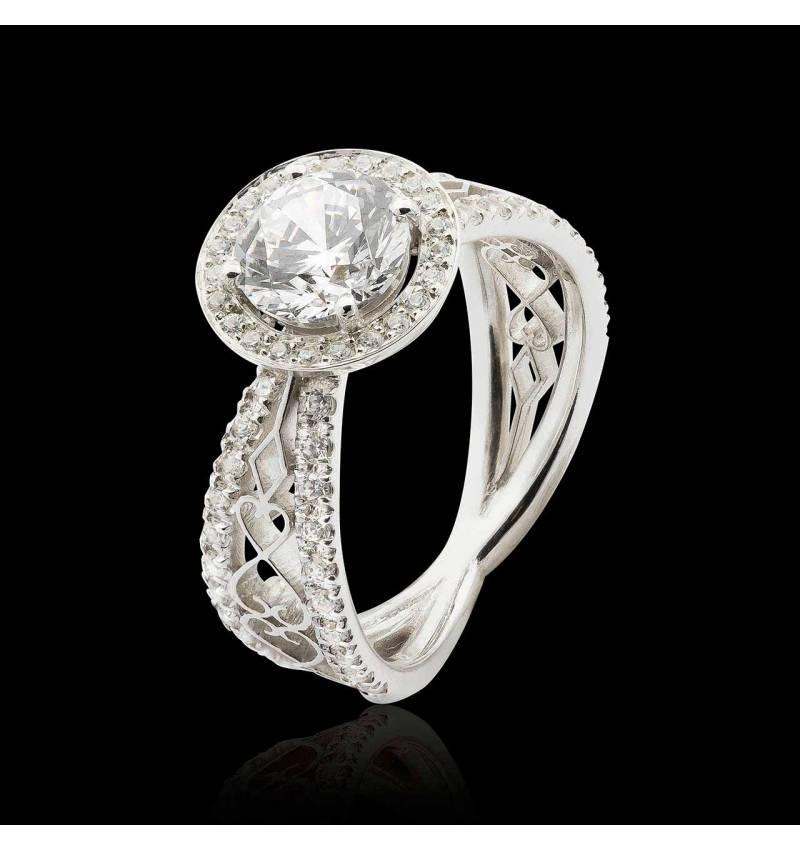 Bague de fiançailles diamant Barbara