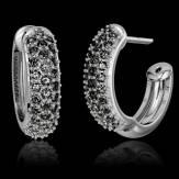 Boucles d'oreilles pavage diamant noir or blanc Mangrove
