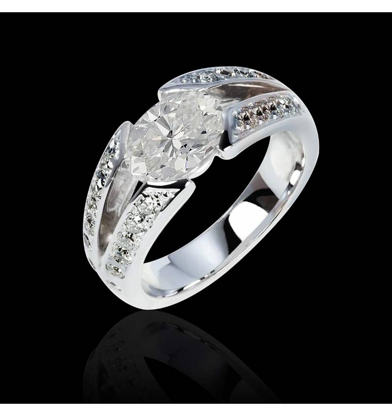 bague diamant et or blanc