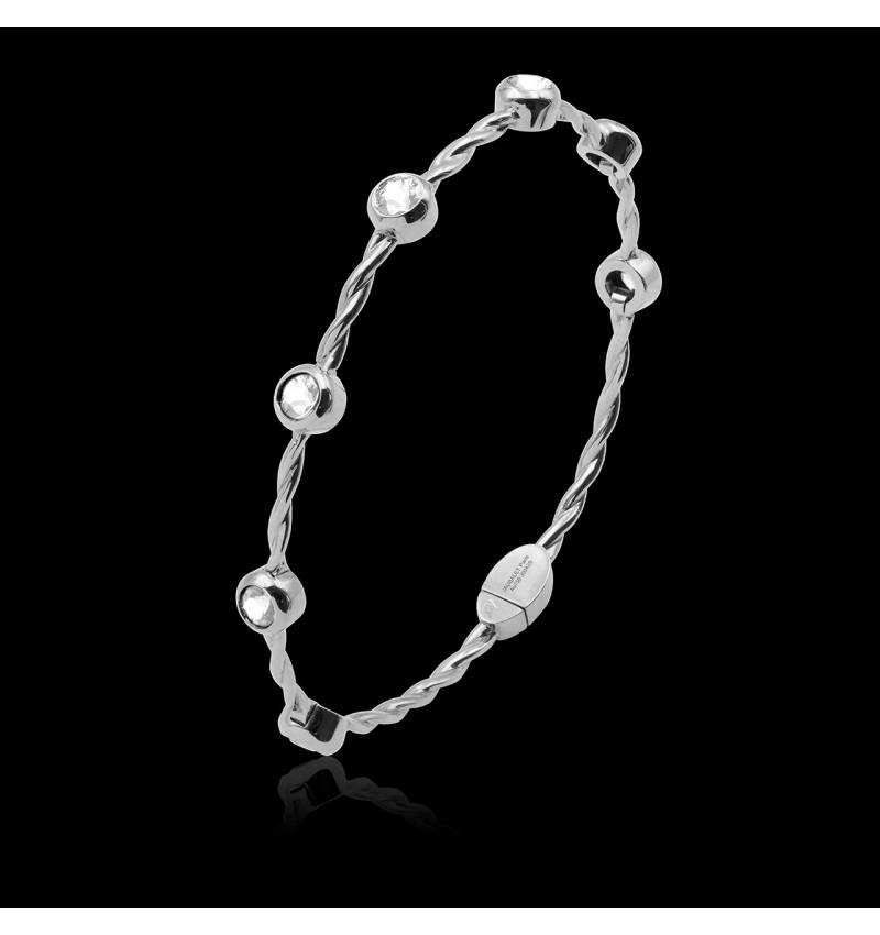 Bracelet diamant entrelacé