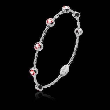 Bracelet rubis Entrelacé