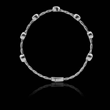 Bracelet émeraude Entrelacé