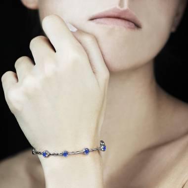 Bracelet saphir bleu Entrelacé