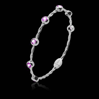 Bracelet saphir rose Entrelacé