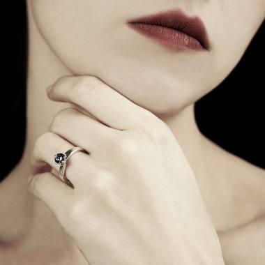 Bague diamant noir Alicia