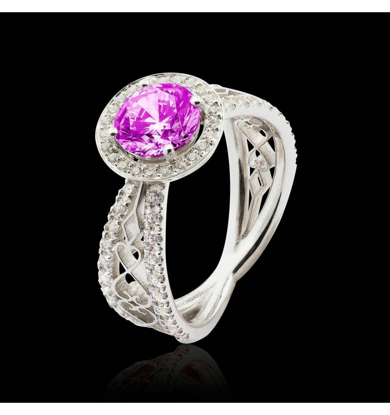 Bague saphir rose Barbara