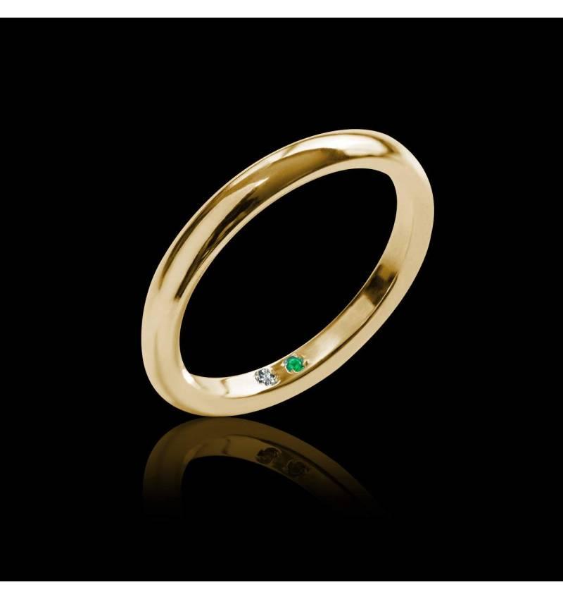 Alliance mariage femme or jaune Cache Cache