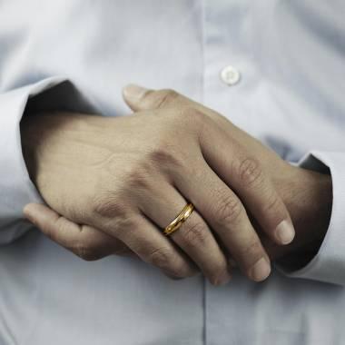 Alliance homme or jaune Patrick