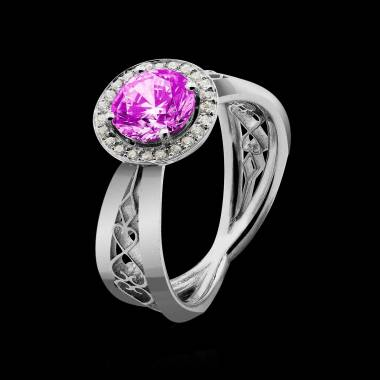 Bague saphir rose Barbara Solo