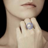 Bague perle blanche Corinne