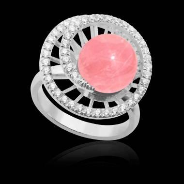 Bague perle rosée Corinne