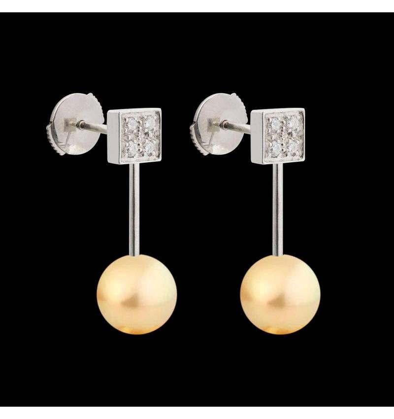 Boucles d'oreilles perle gold Archipel