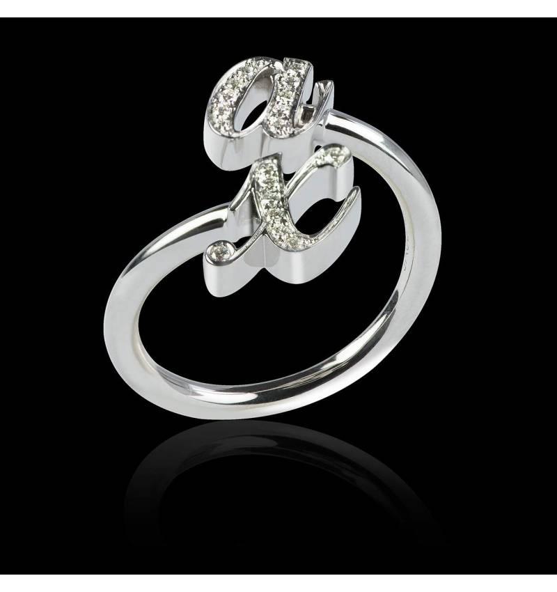 Alliance de mariage pavage diamant 0,7 carat platine You&Me