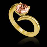 Bague Spinelle rouge Serpentine
