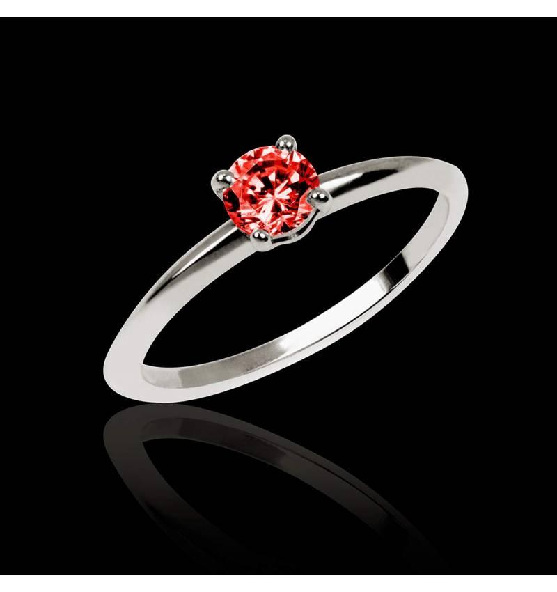 Bague de fiançailles Spinelle rouge Valentina