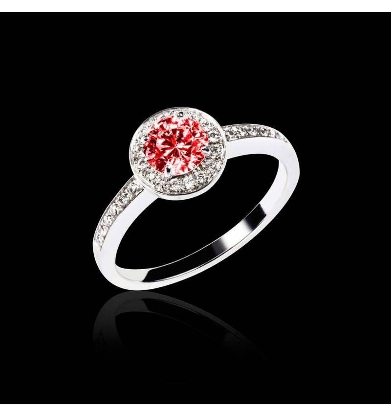 Bague de fiançailles Spinelle rouge Rekha